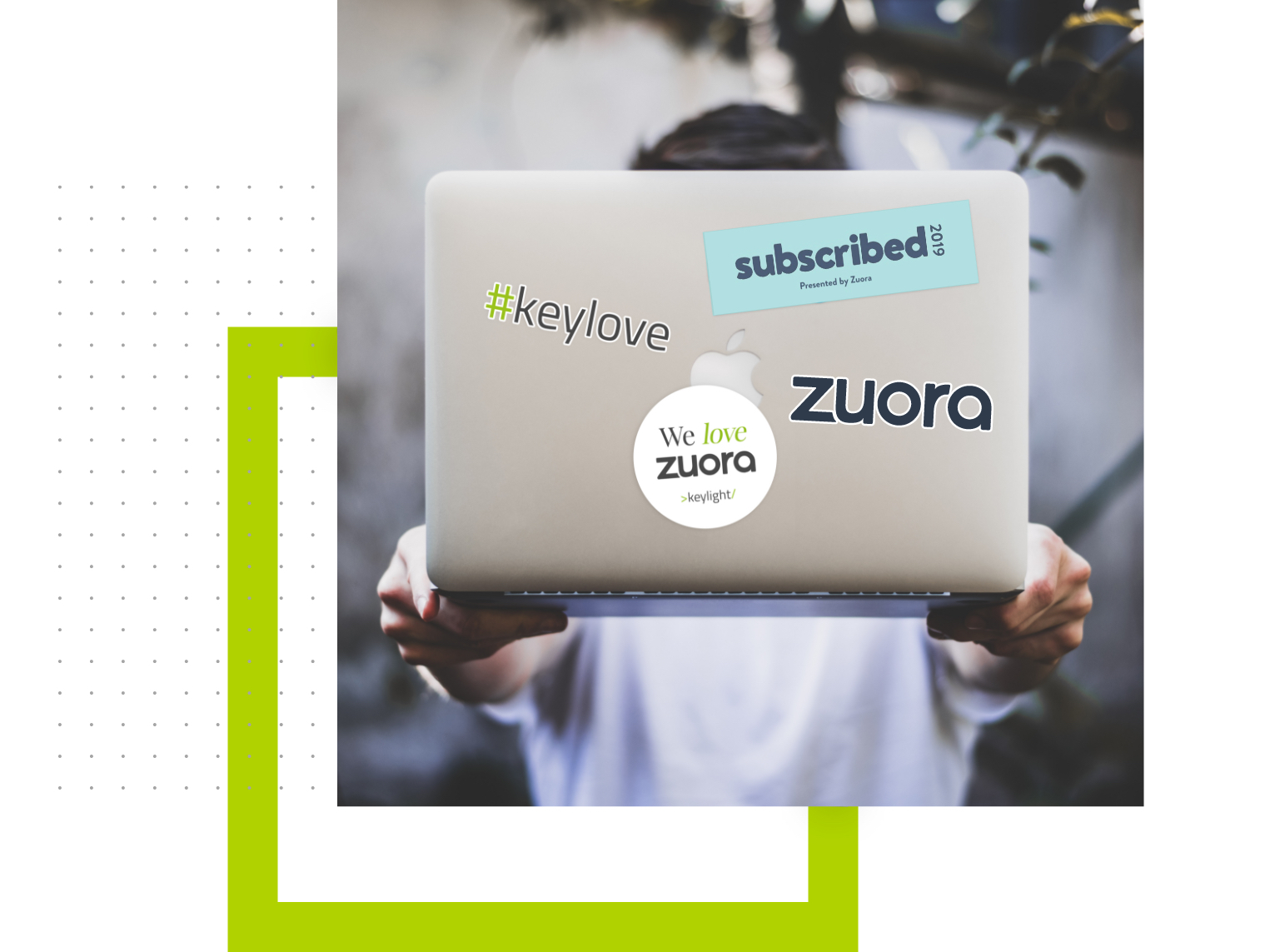 Laptop with Zuora Stickers